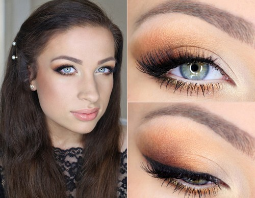 Makijaż Dla Bruneta O Szaro Niebieskich Oczach Niebiesko Szare Oczy
